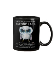 Think Before Act Owl Mug tile