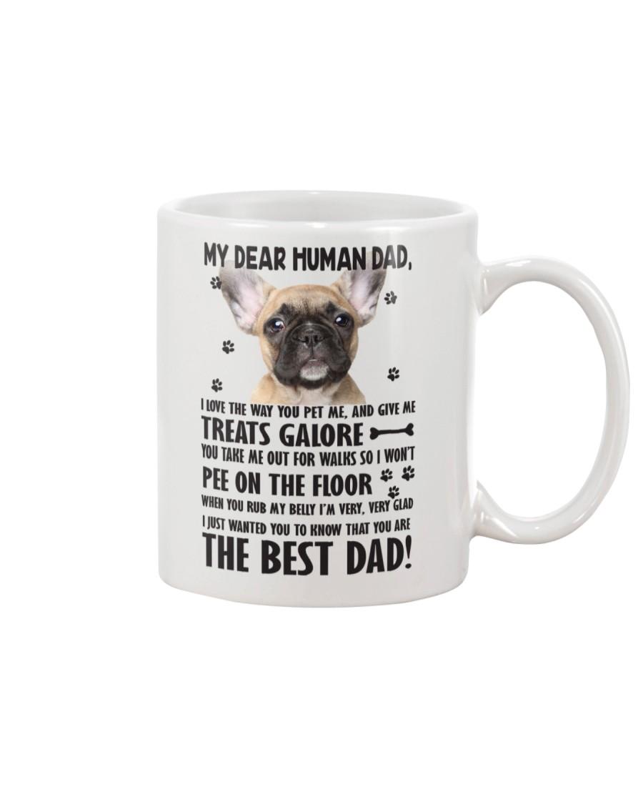 Human Dad French Bulldog Mug