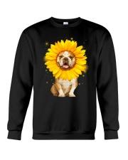 Bulldog Sun Flower Crewneck Sweatshirt thumbnail