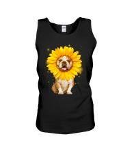 Bulldog Sun Flower Unisex Tank thumbnail