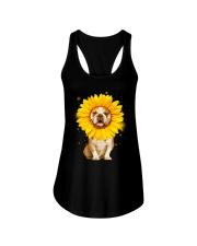 Bulldog Sun Flower Ladies Flowy Tank thumbnail