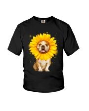 Bulldog Sun Flower Youth T-Shirt thumbnail