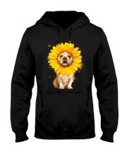 Bulldog Sun Flower Hooded Sweatshirt thumbnail