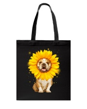 Bulldog Sun Flower Tote Bag thumbnail