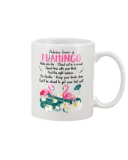 Advice From Flamingo Mug front
