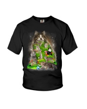 Cat Flower Youth T-Shirt thumbnail