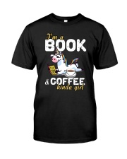 Unicorn Book Coffee Classic T-Shirt front