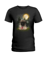 Pug Beauty Ladies T-Shirt thumbnail