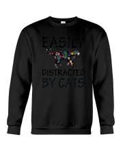 Distracted By Cats Crewneck Sweatshirt thumbnail