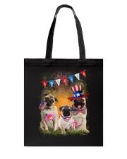 Pug America  Tote Bag thumbnail