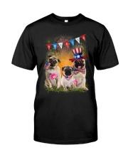 Pug America  Classic T-Shirt front