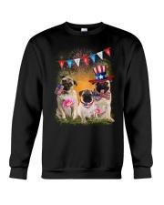 Pug America  Crewneck Sweatshirt thumbnail