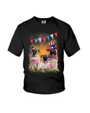 Pug America  Youth T-Shirt thumbnail