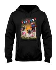 Pug America  Hooded Sweatshirt thumbnail