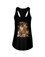 Phoebe - Boxer Mom And Babies - 104 Ladies Flowy Tank thumbnail