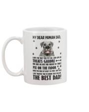 Human Dad Standard Schnauzer Mug back