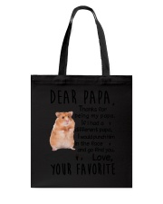 Dear Papa Hamster Tote Bag tile