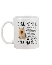 Mommy Yorkshire Terrier Mug back