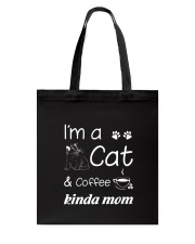 Cat Kinda Mom Tote Bag thumbnail
