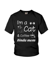 Cat Kinda Mom Youth T-Shirt thumbnail