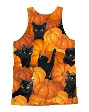 Black Cat Pumpkin All-over Unisex Tank back