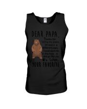 Dear Papa Bear Unisex Tank thumbnail