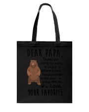 Dear Papa Bear Tote Bag thumbnail