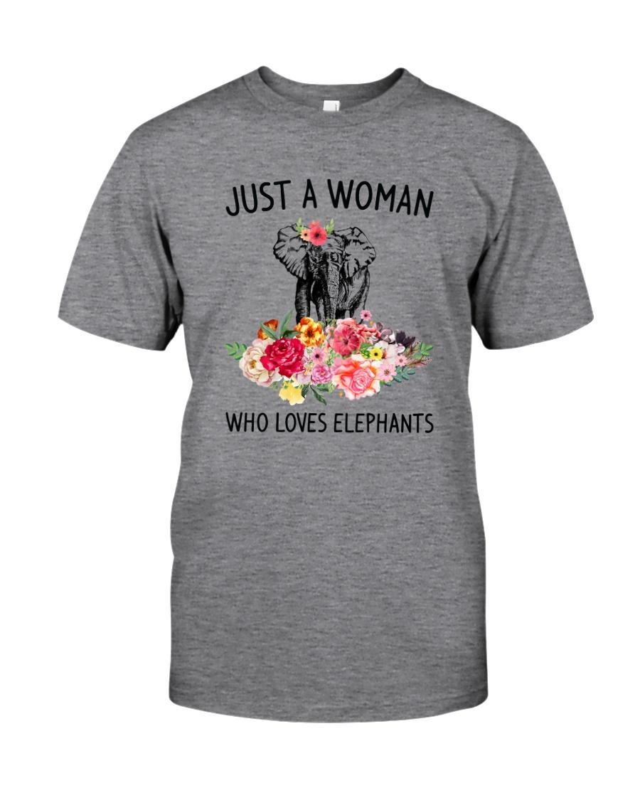 Just A Woman Elephant Classic T-Shirt