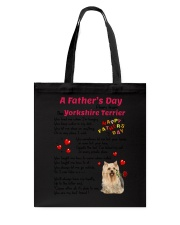 Poem From Yorkshire Terrier Tote Bag thumbnail