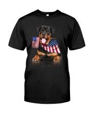 Flag Rottweiler Classic T-Shirt front