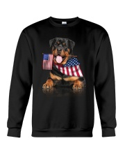 Flag Rottweiler Crewneck Sweatshirt thumbnail
