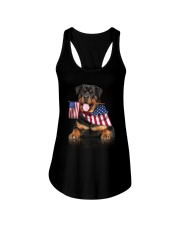 Flag Rottweiler Ladies Flowy Tank thumbnail