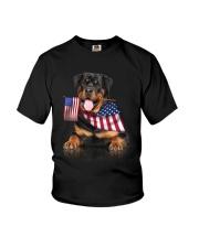 Flag Rottweiler Youth T-Shirt thumbnail