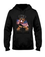 Flag Rottweiler Hooded Sweatshirt thumbnail