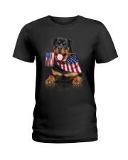 Flag Rottweiler Ladies T-Shirt thumbnail