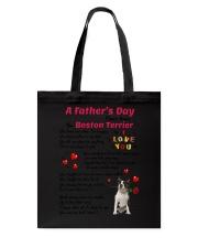 Poem From Boston Terrier Tote Bag thumbnail
