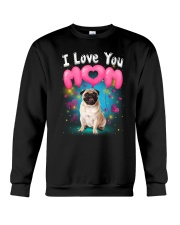 Pug  I Love Mom Crewneck Sweatshirt thumbnail