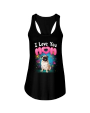 Pug  I Love Mom Ladies Flowy Tank thumbnail
