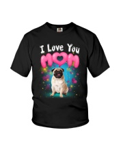 Pug  I Love Mom Youth T-Shirt thumbnail