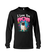 Pug  I Love Mom Long Sleeve Tee thumbnail