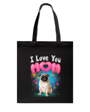 Pug  I Love Mom Tote Bag thumbnail
