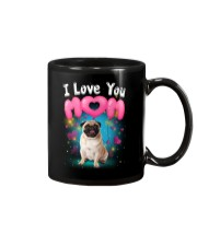 Pug  I Love Mom Mug thumbnail