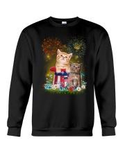 Cat Firework America Crewneck Sweatshirt thumbnail