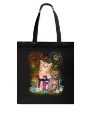 Cat Firework America Tote Bag thumbnail