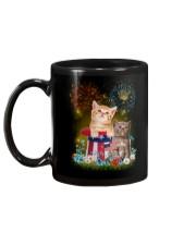 Cat Firework America Mug back