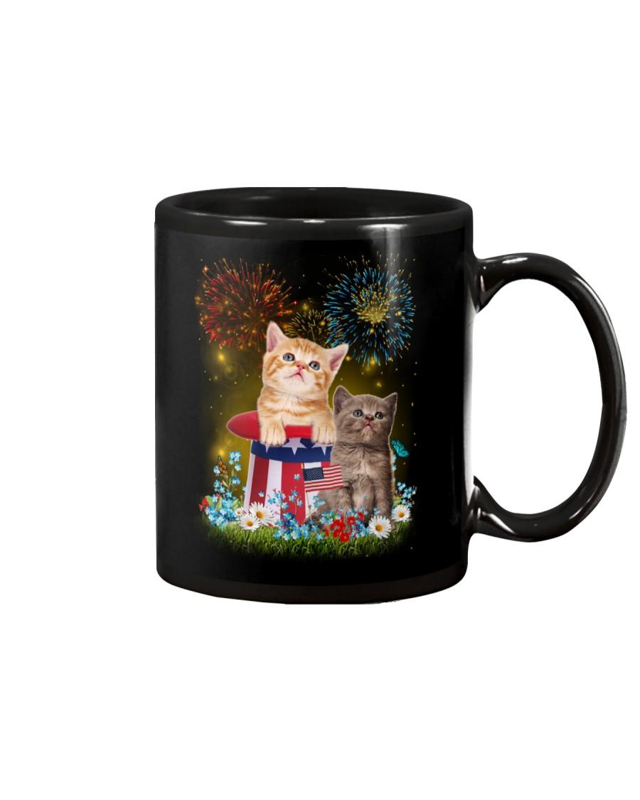 Cat Firework America Mug