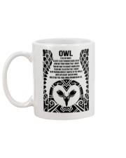Owl Eyes Of Night Mug back