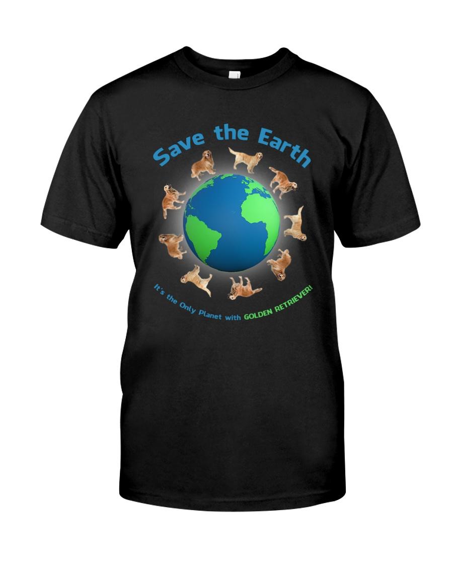 Golden Retriever Planet Classic T-Shirt