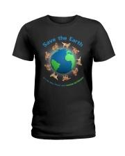 Golden Retriever Planet Ladies T-Shirt thumbnail