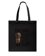 Daddy Dachshund Tote Bag tile